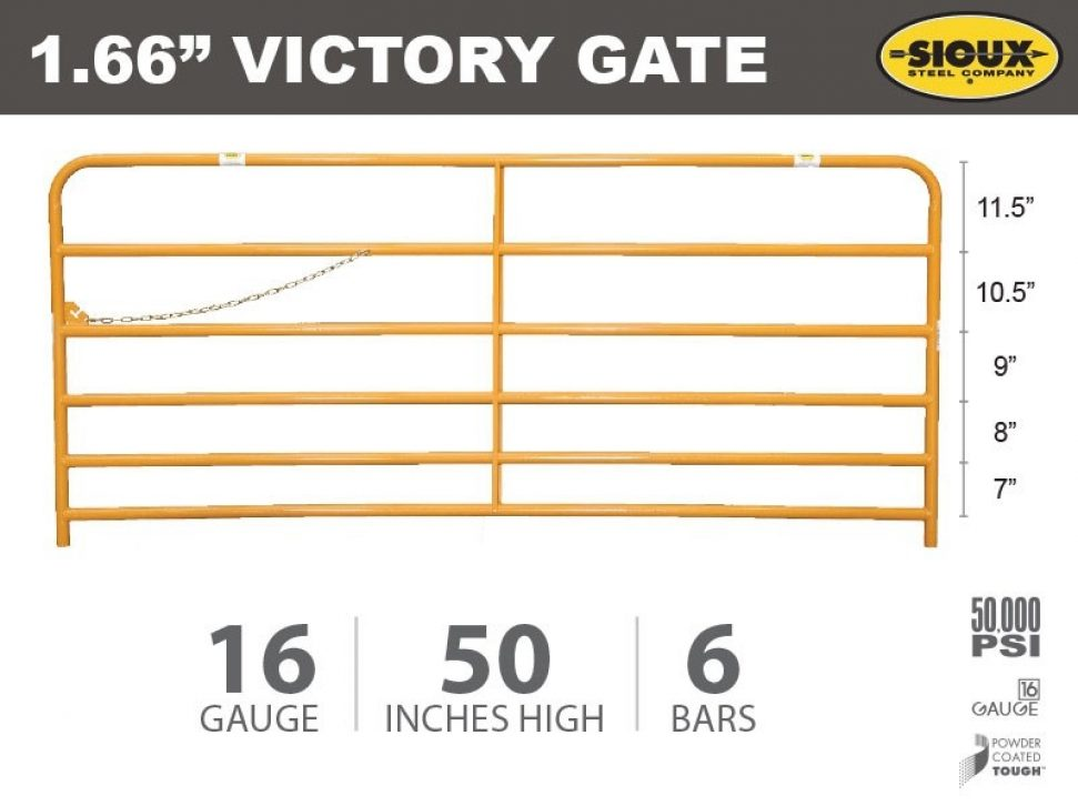 """1.66"""" Victory Gate Feature"""