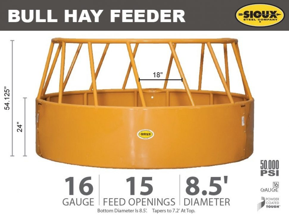 Bull Hay Feeder Features