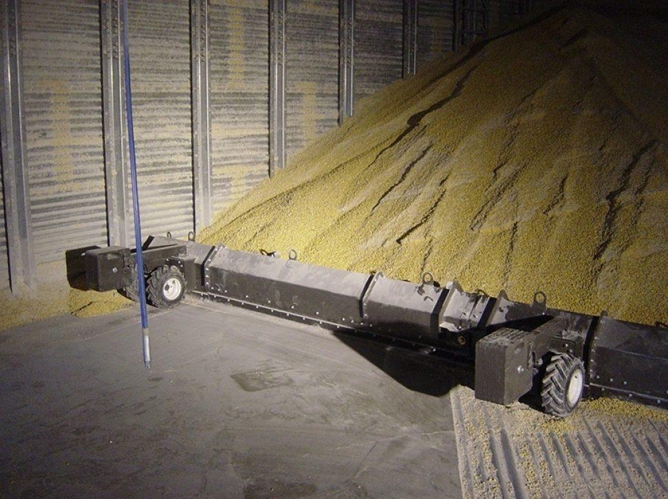 Grain Removed From Bin Floor