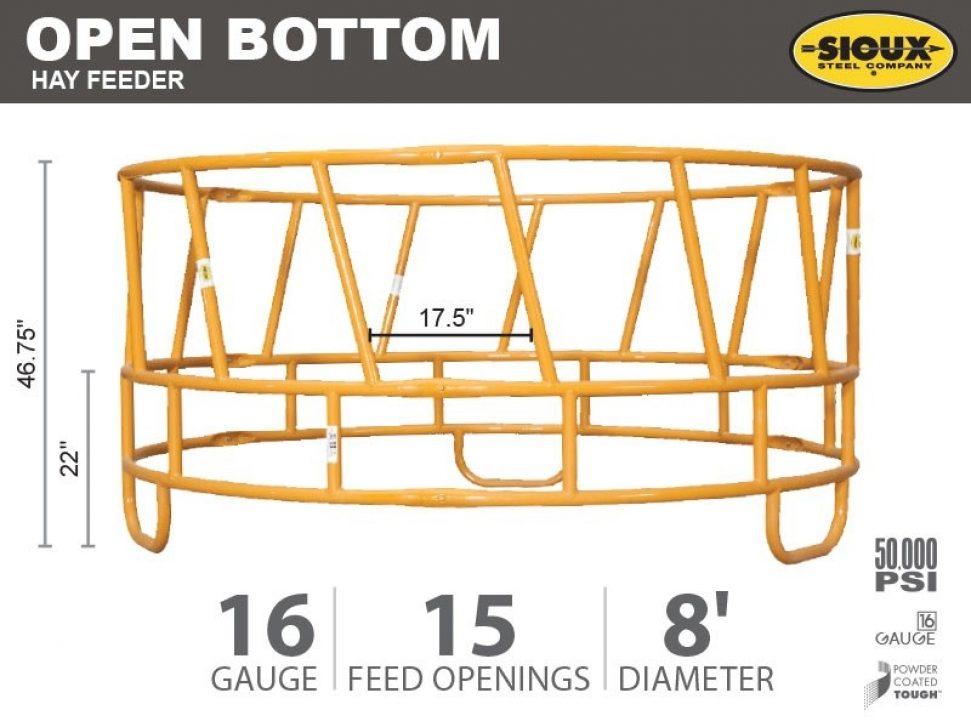 Open Bottom Hay Feeder Features