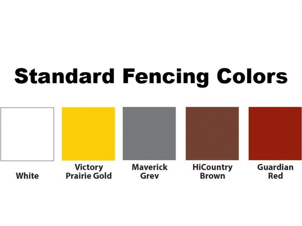 Fencing Color Options: White, Gold, Grey, Brown, Red